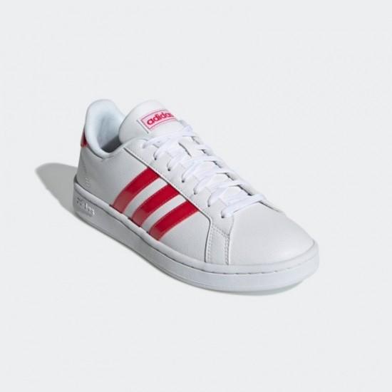 Giày adidas Grand Court Nữ - Trắng Đỏ