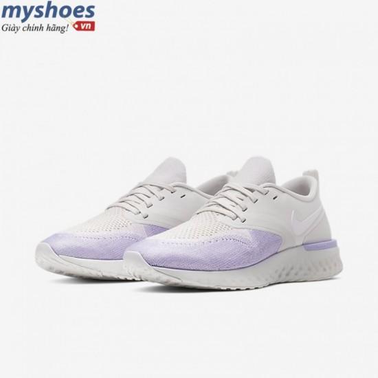 Giày Nike Odyssey React 2 Flyknit - Nữ Trắng Tím