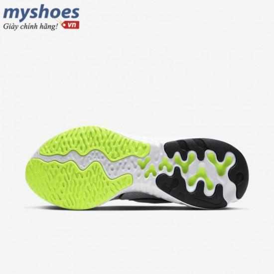 Giày Nike Renew Run Nam - Xám Xanh Neon
