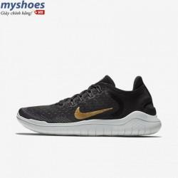  Giày Nike Free RN 2018 Nữ- Đen Vàng