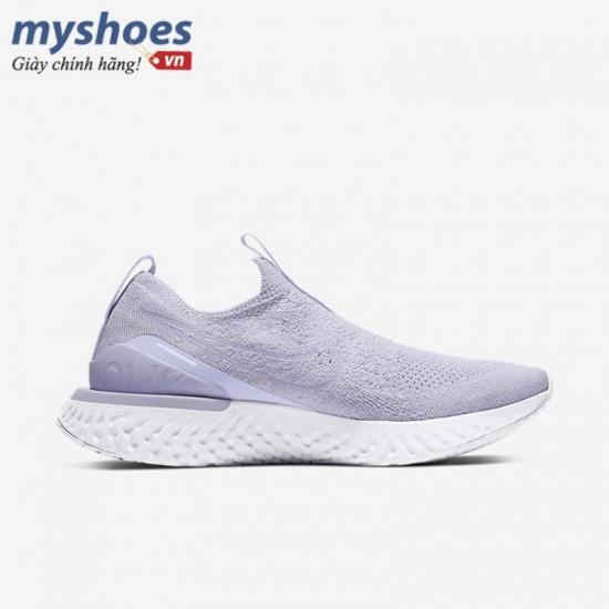 Giày Nike Epic Phantom React Flyknit Nữ -Tím Trắng
